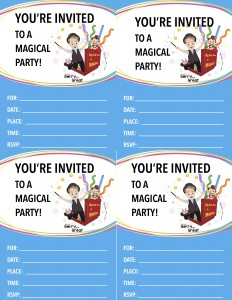 MAGIC Birthday Party Invite Blue