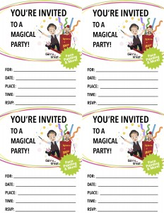 MAGIC & More Birthday Party Invite plain